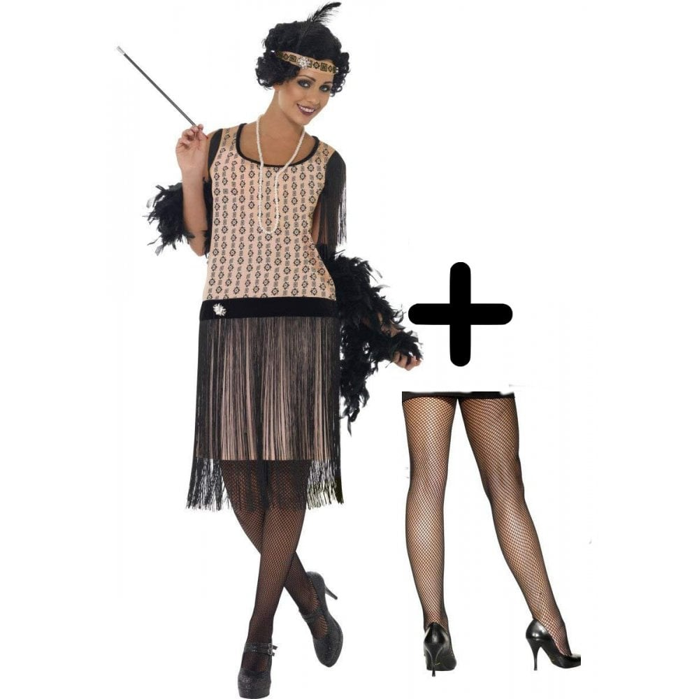 1920 s Coco Flapper - Adult Costume Set (Costume and Tights) - Costume Sets  from A2Z Fancy Dress UK 206321850c7e