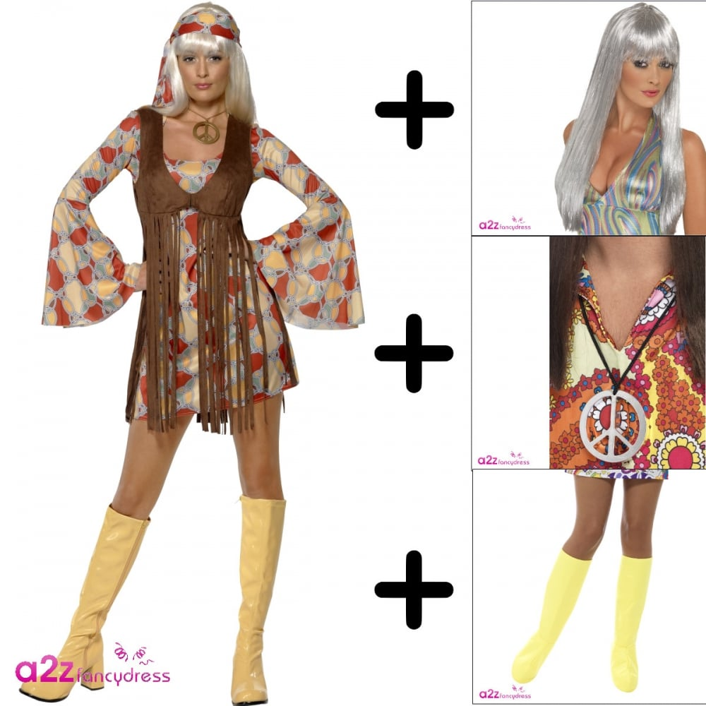 1960s Groovy Baby- Adult Costume Set (Costume df4e96414