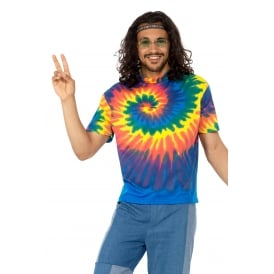 1960s Tie Dye T-Shirt - Adult Costume