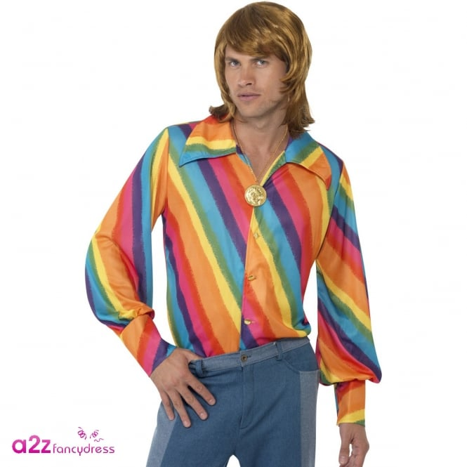 1970s Rainbow Shirt - Adult Accessory