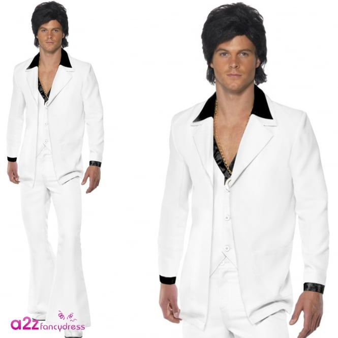 1970's White Suit - Adult Costume