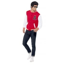 50s College Jock Letterman Jacket - Adult Costume