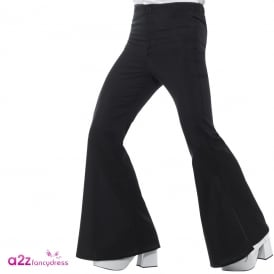 60s Flared Trousers (Black) - Adult Costume