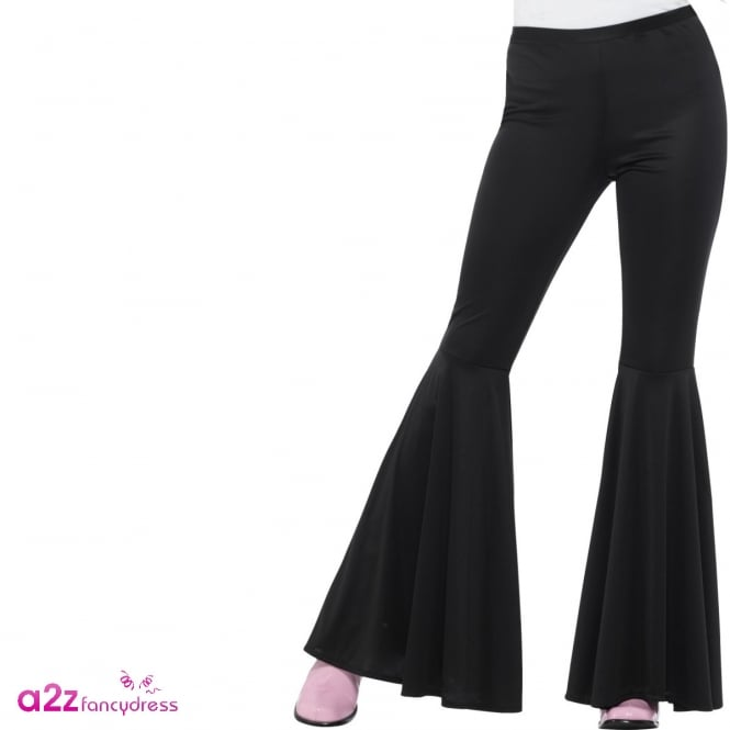 60's Flared Trousers (Black) - Adult Ladies Costume