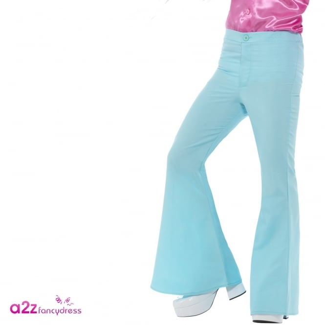 60s Flared Trousers (Blue) - Adult Costume