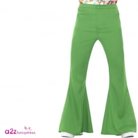 60s Flared Trousers (Green) - Adult Costume