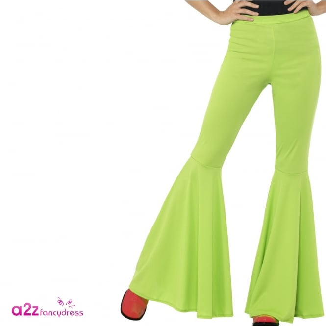 60's Flared Trousers (Green) - Adult Ladies Costume