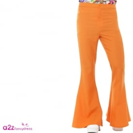 60s Flared Trousers (Orange) - Adult Costume