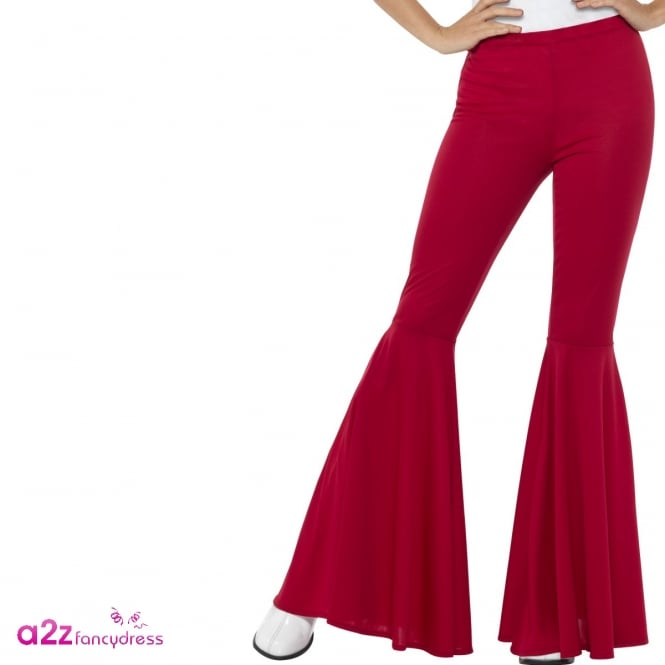 60's Flared Trousers (Red) - Adult Ladies Costume