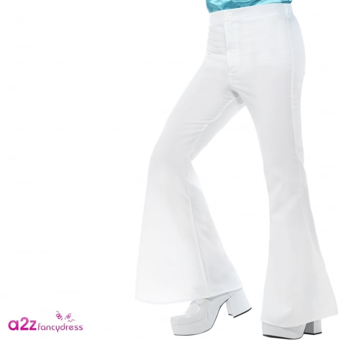 60s Flared Trousers (White) - Adult Costume