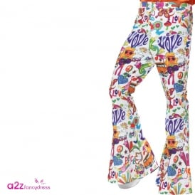 60's Groovy Flared Trousers - Adult Costume