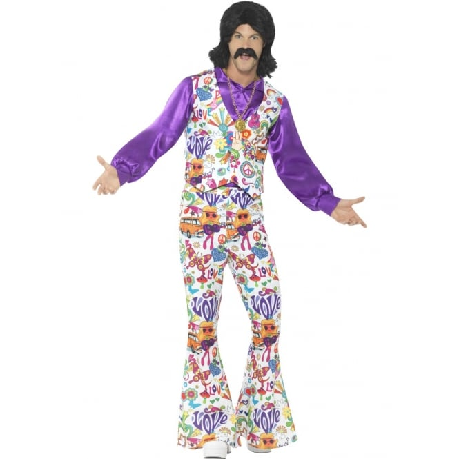 60's Groovy Hippy Suit - Adult Costume
