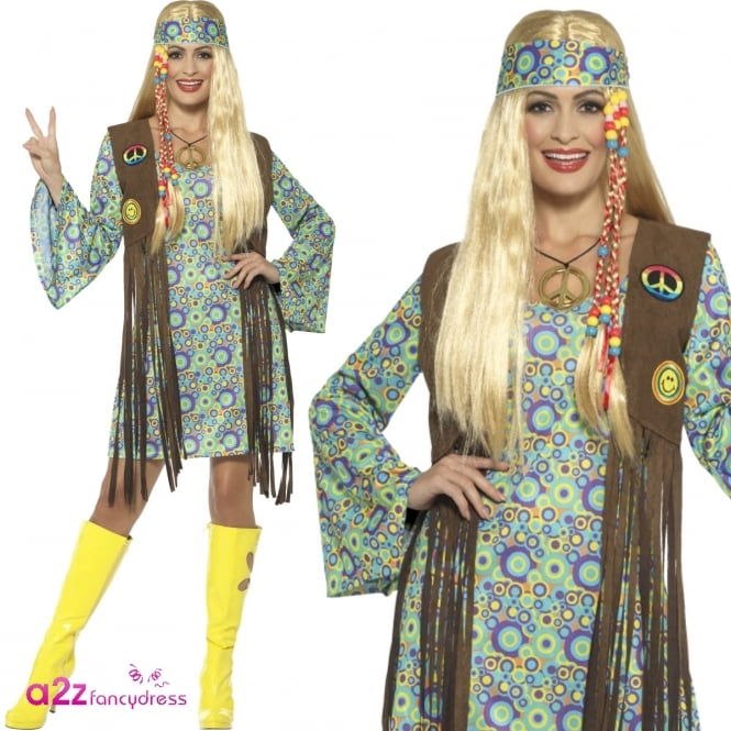 60's Hippie Chick - Adult Costume