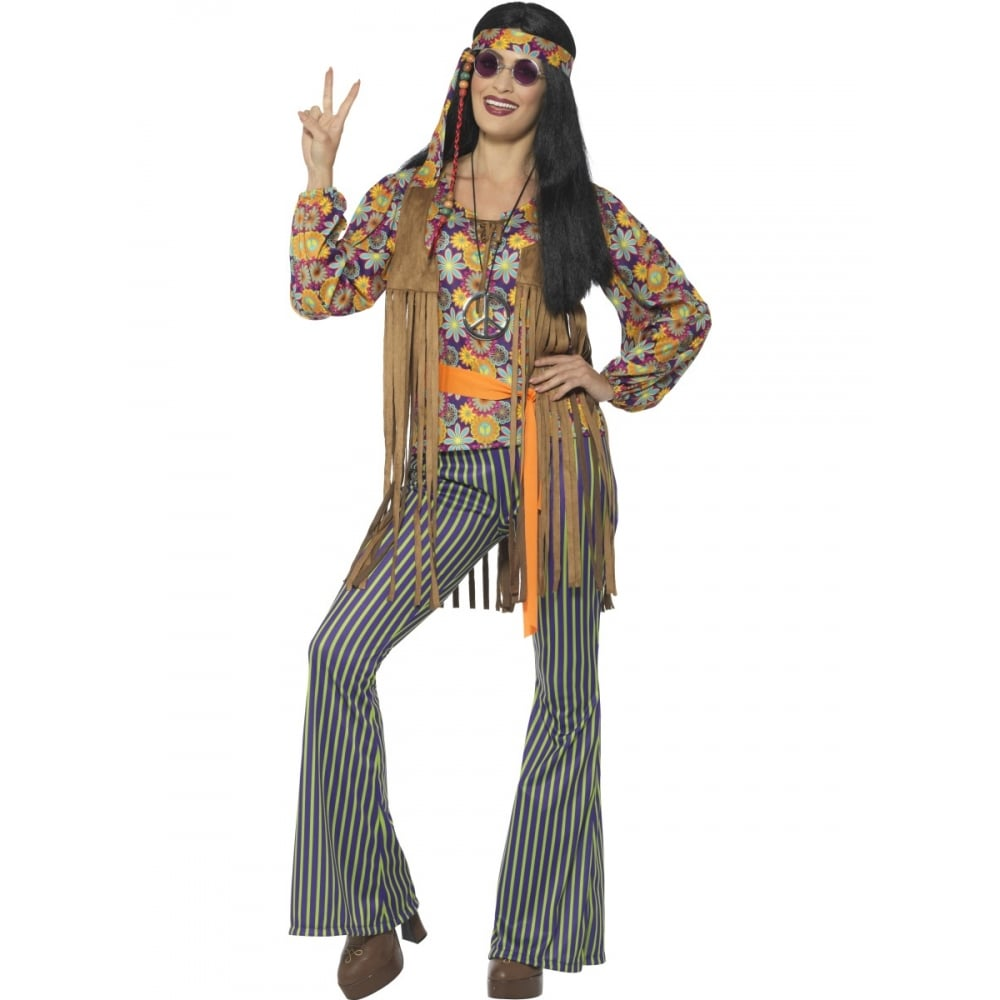 0531f516acde2 60's Hippie Singer - Adult Costume Set (Costume, Wig, Specs & Medallion) - Adult  Costumes from A2Z Fancy Dress UK