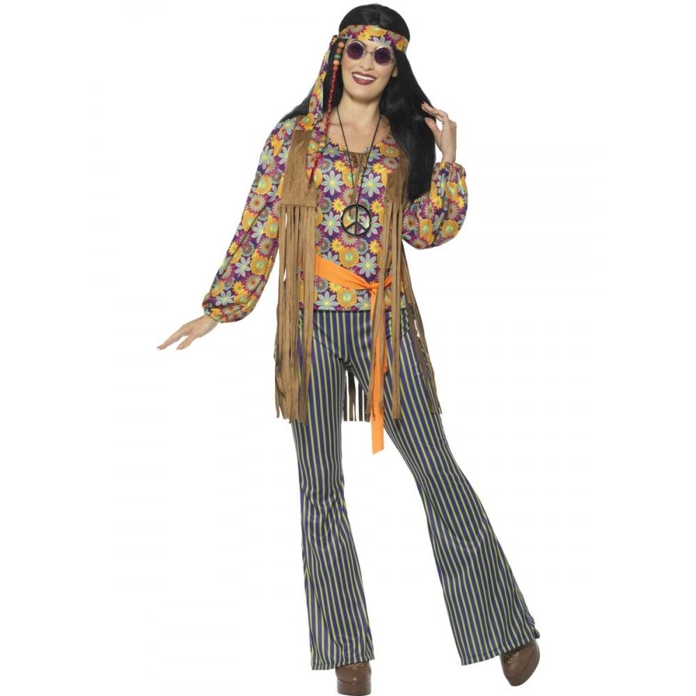 bc09d88f1094c 60's Hippie Singer - Adult Costume Set (Costume, Wig, Specs ...