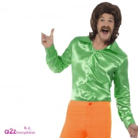60's Shirt (Green) - Adult Costume