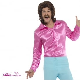 60's Shirt (Pink) - Adult Costume