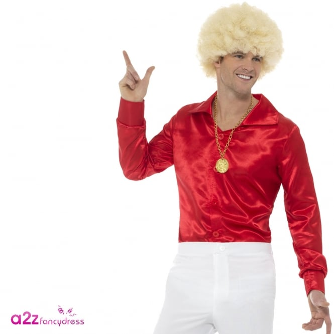 60's Shirt (Red) - Adult Costume