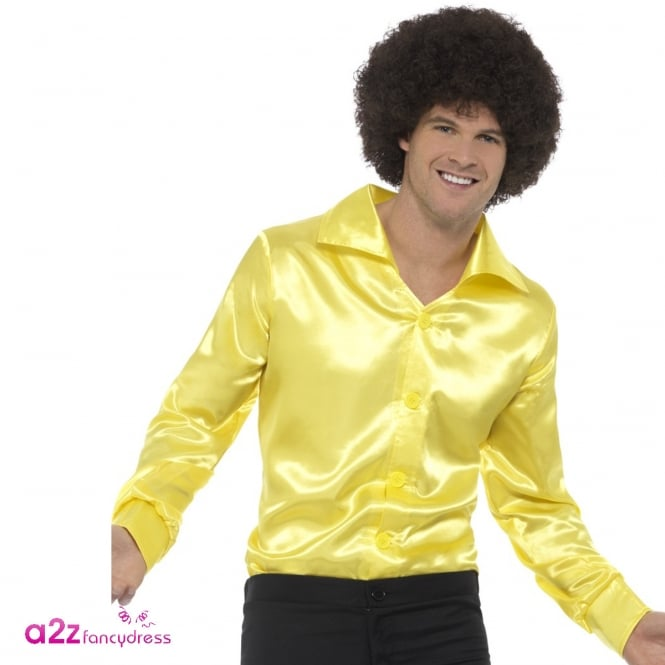 60's Shirt (Yellow) - Adult Costume