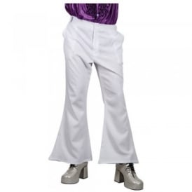 70's Flares (White) - Adult Costume Accessory