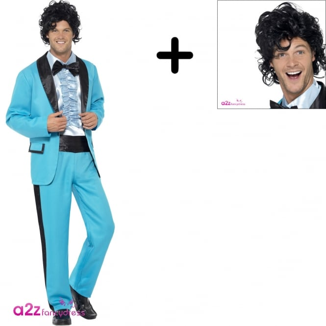 80's Prom King - Adult Costume Set (Costume, Wig)