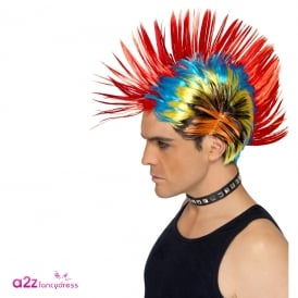 80's Street Punk Wig - Adult Accessory