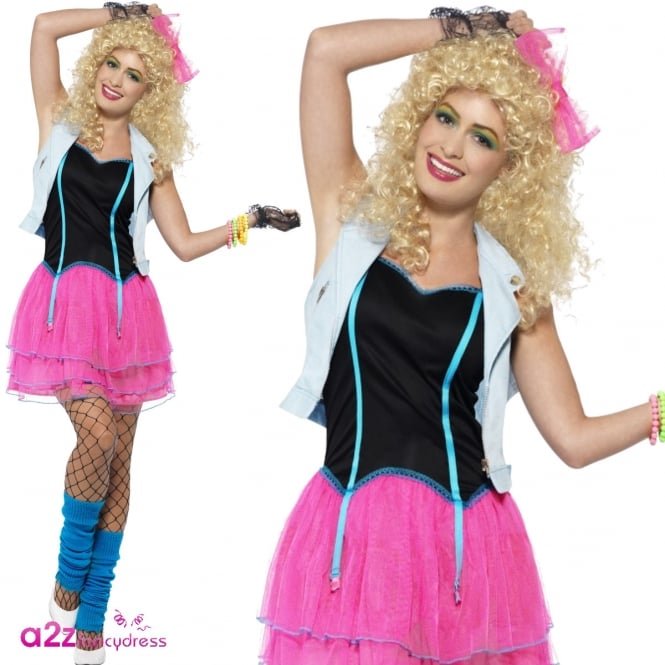 80's Wild Girl (Pink) - Adult Costume