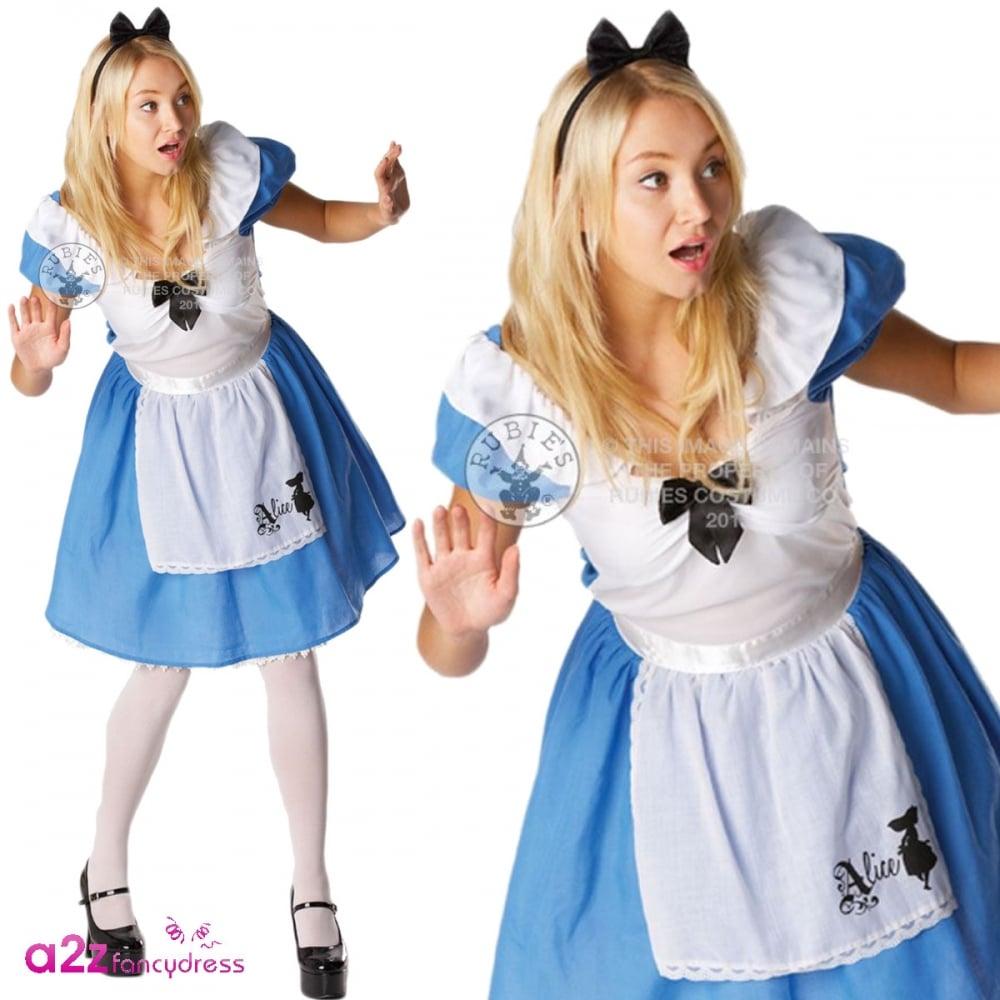 Disney Sassy ALICE IN WONDERLAND Adult Ladies Licensed Fancy Dress Costume S M L