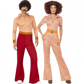 Authentic 70's Guy & Girl - Couples Costumes
