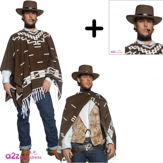 Authentic Western Wandering Gunman - Adult Costume Set 1 (Costume, Hat)
