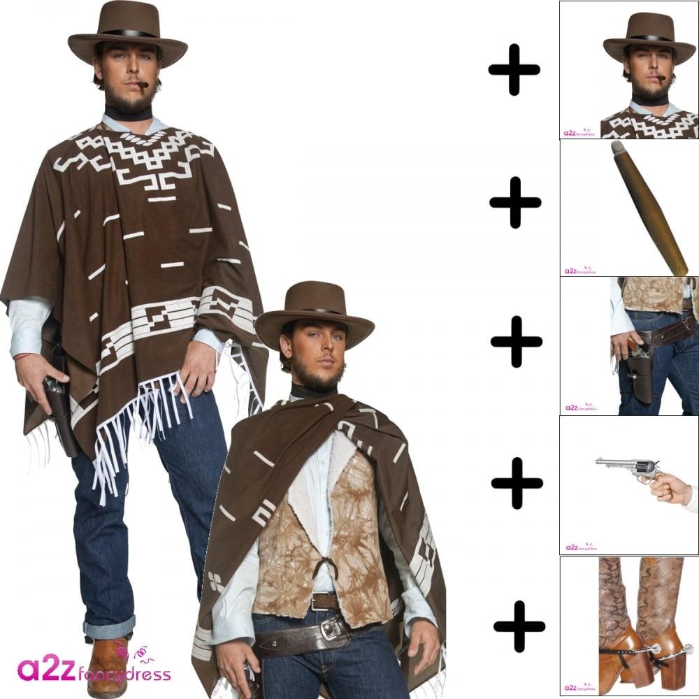 Cowboy Costume Acessories Cigar Wild West Hat Fancy Dress Party