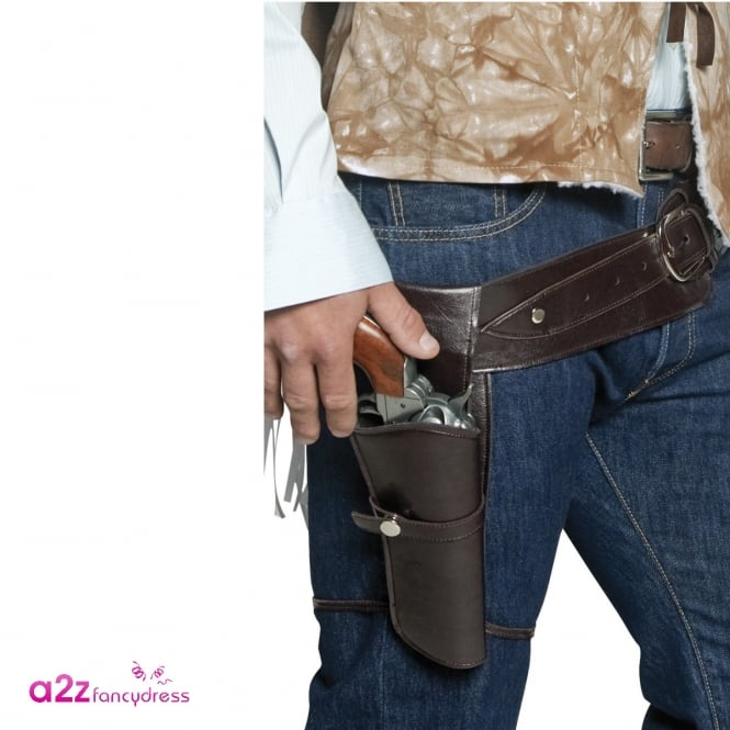Authentic Western Wandering Gunman Belt & Holster - Adult Accessory