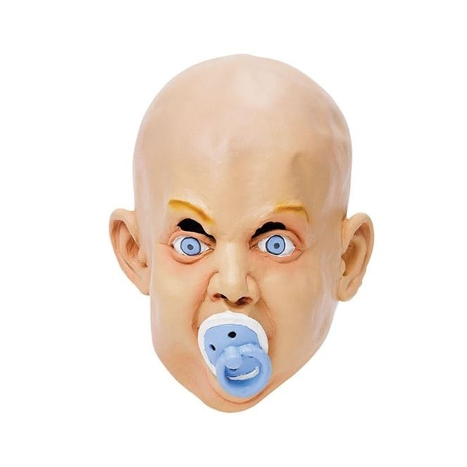 Baby With Dummy Mask - Adult Accessory