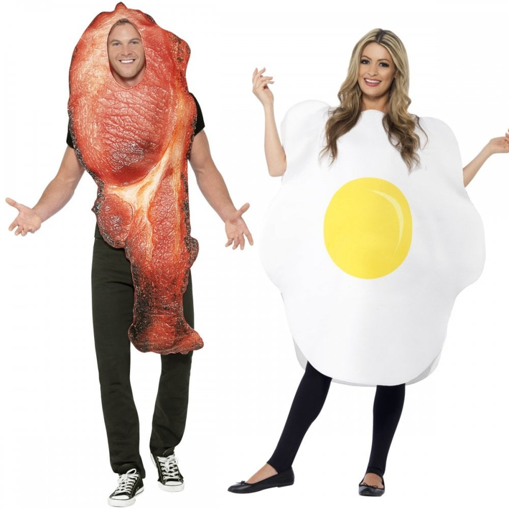 c8a76bc7d852 Bacon   Egg - Couples Costumes - Couples Costumes from A2Z Fancy Dress UK