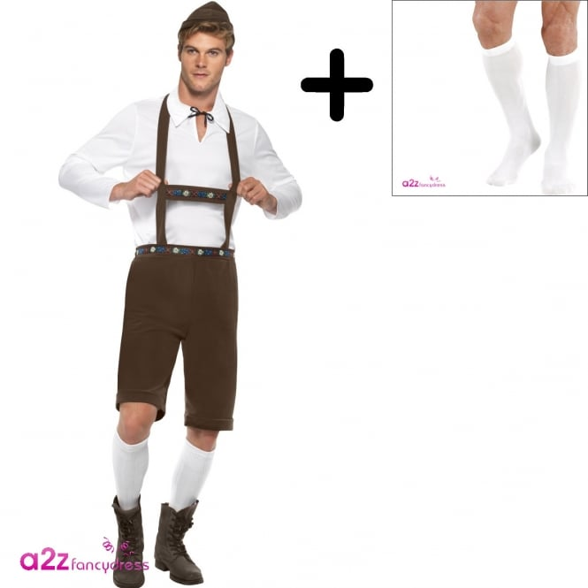 Bavarian Man - Adult Costume Set (Costume, Socks)