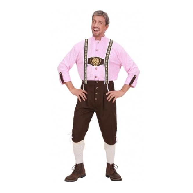 Bavarian Man (Pink Shirt) - Adult Costume