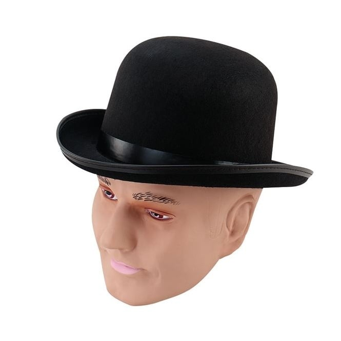 Black Bowler Hat - Accessory