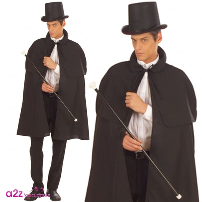 Black Cape With Tippet - Adult Accessory