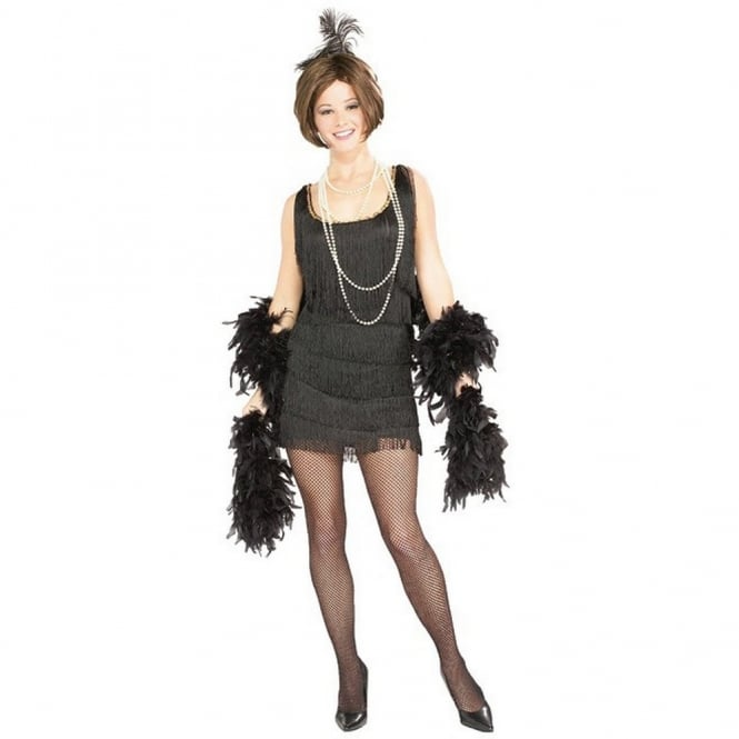Black Chicago Flapper (1920s) - Adult Costume