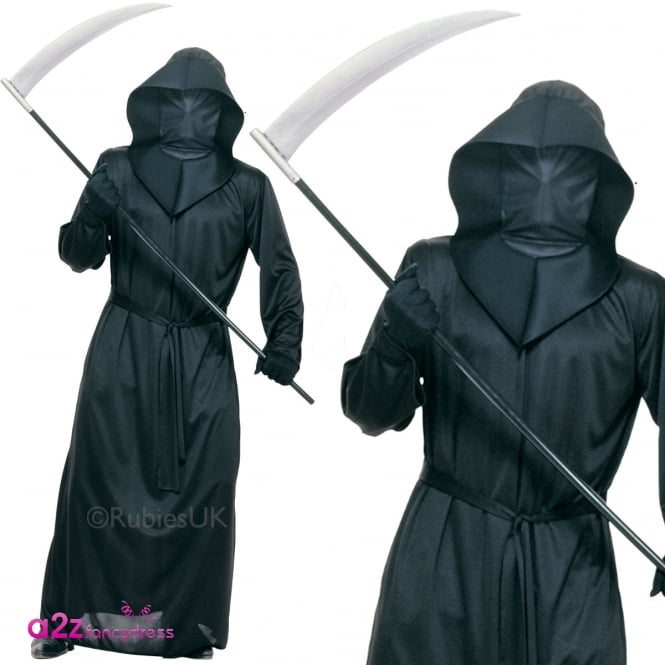 Black Mesh Face Robe - Adult Costume