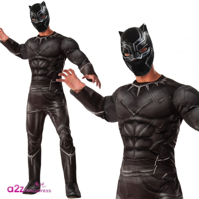 CAPTAIN AMERICA - CIVIL WAR ~ Black Panther Deluxe - Adult Costume