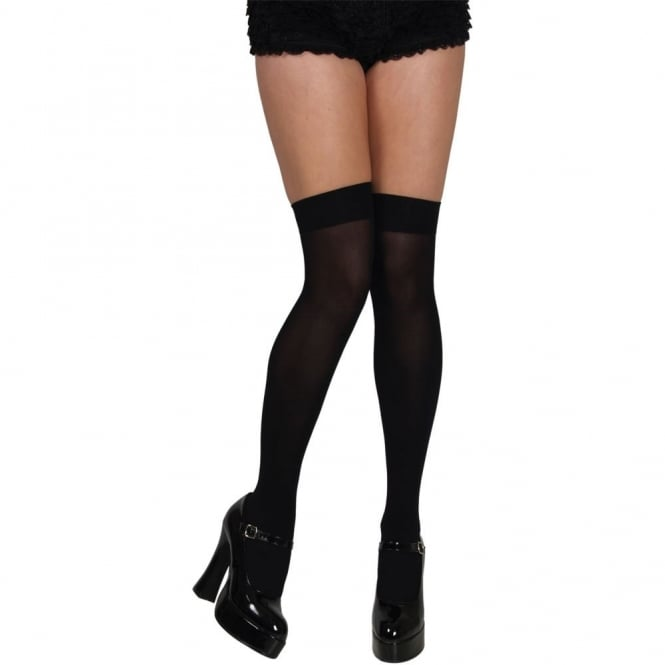Black Thigh High Stockings - Adult Accessory
