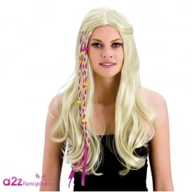 Blonde Groovy Hippie Wig - Adult Accessory