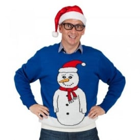 Blue Snowman Jumper - Adult Costume