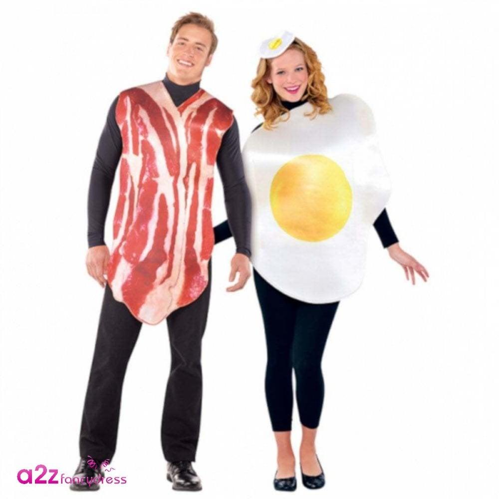 Egg Tabard Food Breakfast Fried Novelty Mens Fancy Dress Costume