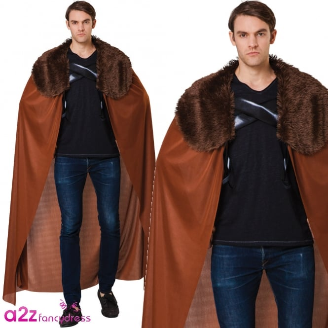 Brown Fur Collared Cape - Adult Accessory