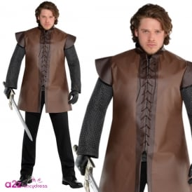 Brown Warrior Tunic (Plus Size) - Adult Accessory