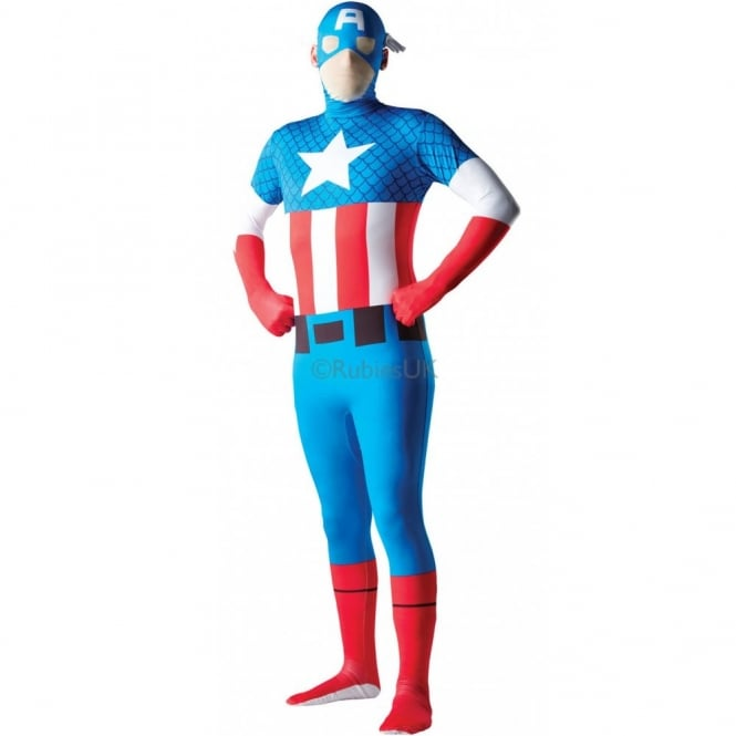 AVENGERS - ASSEMBLE ~ Captain America - Adult 2nd Skin Costume
