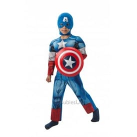 ~ Captain America Deluxe (WITH SHIELD) - Kids Costume