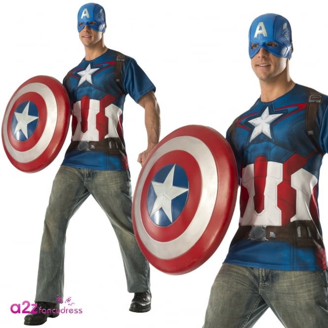 AVENGERS - ASSEMBLE ~ Captain America T-Shirt Set - Adult Costume